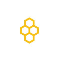 honeycomb design vector image