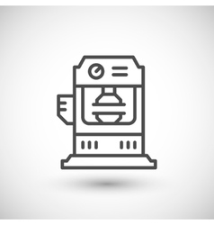 Hydraulic press machine line icon vector