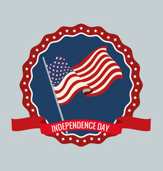independence day 4th party vector image