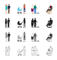 Isolated object of character and avatar icon vector