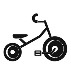 Kid tricycle icon simple style vector