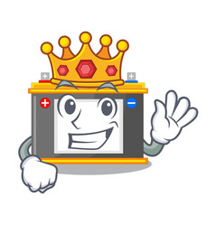 King miniature accomulator in the a shape vector