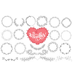 laurels and wreaths hand drawn vector image