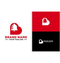 Letter b love logo alarm negative space vector