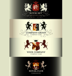 luxury vintage templates logotype collection vector image