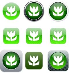Macro green app icons vector