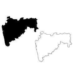 Maharashtra map vector