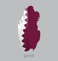 map of qatar vector image