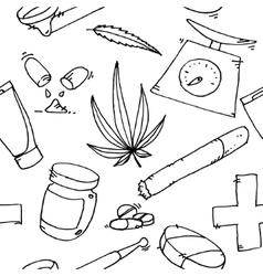Medical marijuana pattern vector