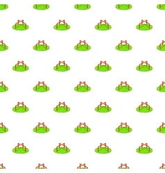 Merry go round pattern cartoon style vector