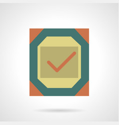 Metal quality sign flat color icon vector