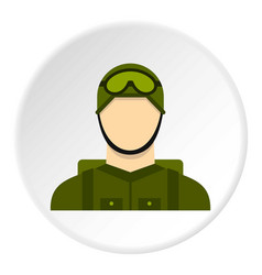 Military paratrooper icon circle vector