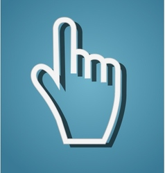 Mouse hand cursor vector image