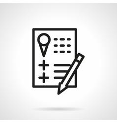 Party checklist black line icon vector