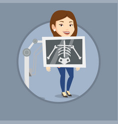 patient during x ray procedure vector image