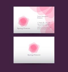 Pink spring flowers spa logo vector