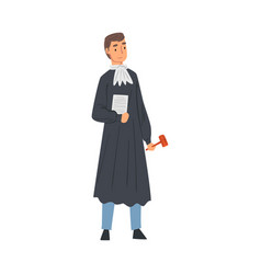 professional judge male court worker character in vector image