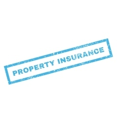 Property insurance rubber stamp vector