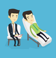 psychologist having session with patient vector image