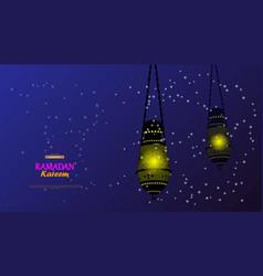 ramadan kareem concept banner islamic theme vector image