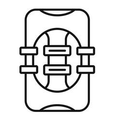 Rescue vest icon outline style vector