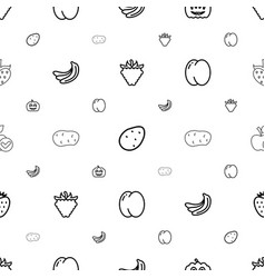 Ripe icons pattern seamless white background vector