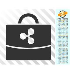 Ripple accounting case flat icon with bonus vector