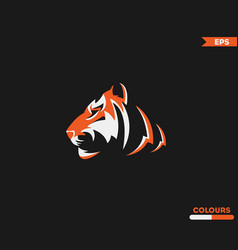 Saber tooth tiger logo vector