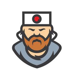 samurai japan cartoon vector image