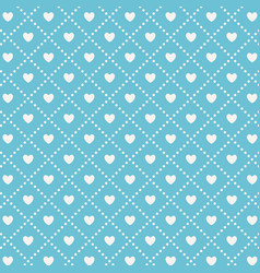 seamless pattern with hearts holiday repeating vector image