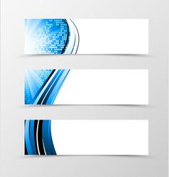 Set of header banner dynamic futuristic design vector image