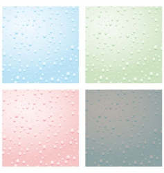 set of raindrops vector image