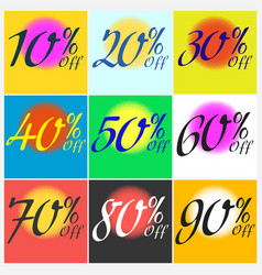 set of sticker sale template vector image