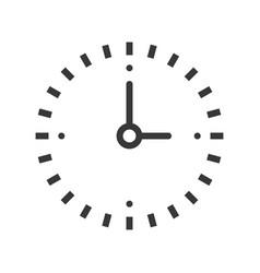 simple clock icon pixel perfect design editable vector image