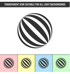 simple outline transparent abstract striped ball vector image