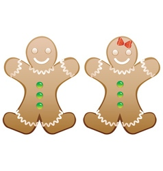 Smiling Gingerbread Cookies vector image