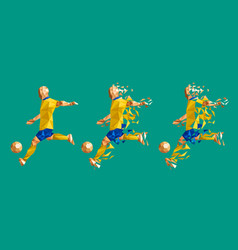 Soccer football player low-poly vector