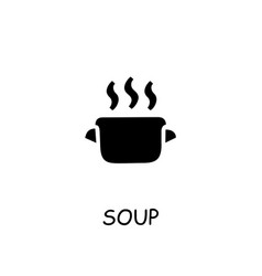 soup flat icon vector image