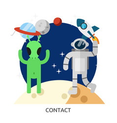 Space contact image vector