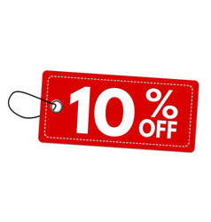 special offer 10 off label or price tag vector image