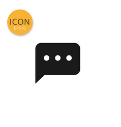 speech bubble icon isolated flat style vector image