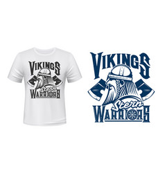 T-shirt print template scandinavian vikings vector
