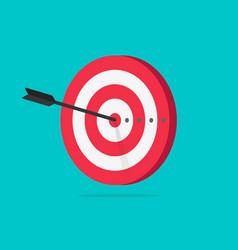 Target icon flat cartoon vector