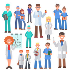 team doctors and other hospital workers vector image