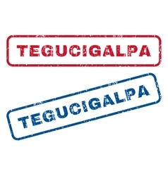 Tegucigalpa Rubber Stamps vector image