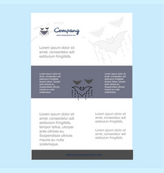 template layout for bat comany profile annual vector image
