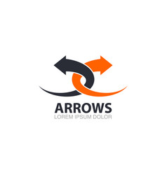 Two pointed arrows logo template vector