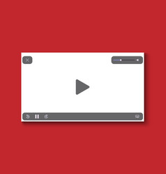 video player flat design on white background vector image