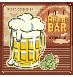 Vintage beer or brewery poster vector image