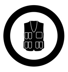 waiscoat black icon in circle vector image